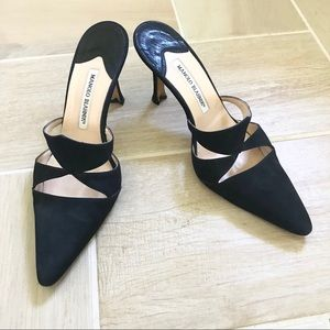 Manolo Blahnik Laser Cut Black heels